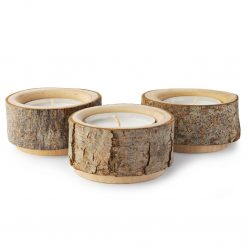 Wooden Candle Holders Set of 3