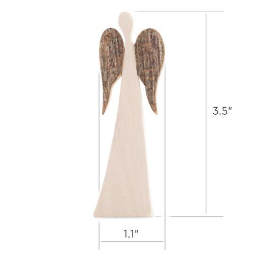 Uploaded ToRustic Wood Angel with Wings