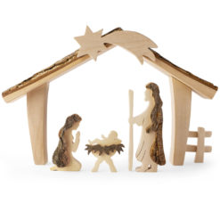 Christmas Scene Wooden Decor