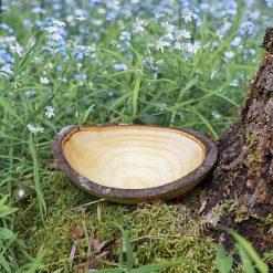 Decorative Wood Serving Bowl