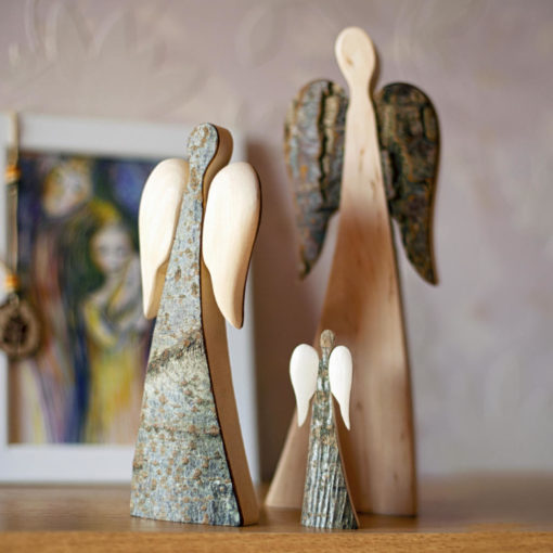 Rustic Wood Angel with Wings