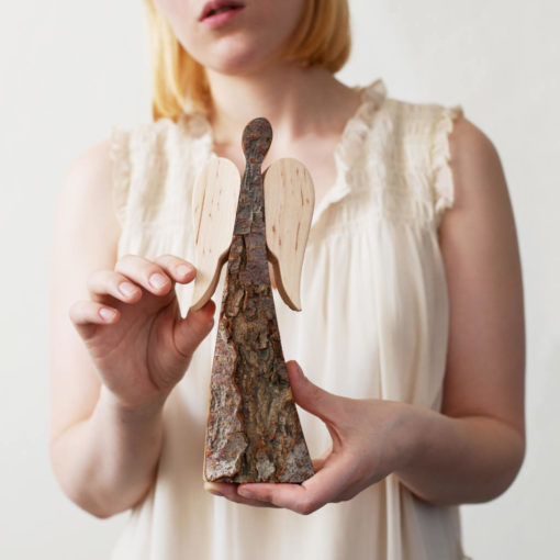 Rustic Wood Angel with Wings