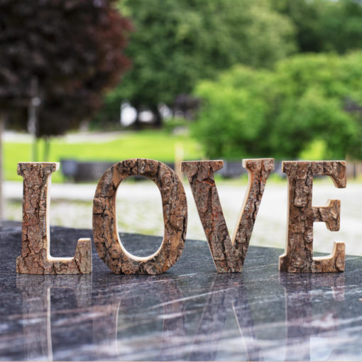 Wooden Love Letters Cutout Sign