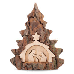 Wooden Christmas Nativity Scene Table Ornament