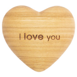 I Love You 3D Wood Heart - with Engraving