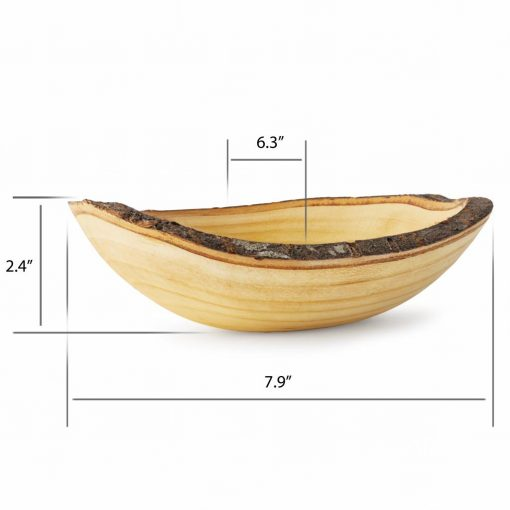 Decorative Wood Serving Bowl with Size